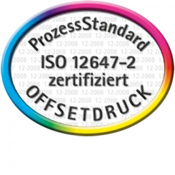 PSO - ISO 12647-2 zertifiziert