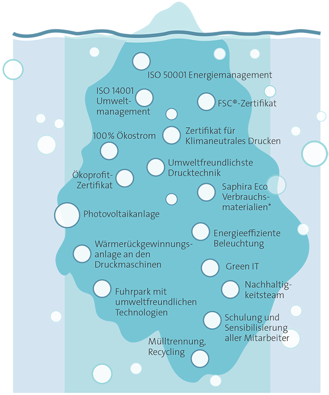 Umweltdruckerei - Eisberg Grafik