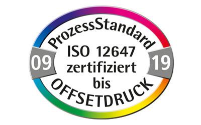 Zertifizierung nach DIN ISO 12647 (ProzessStandard)