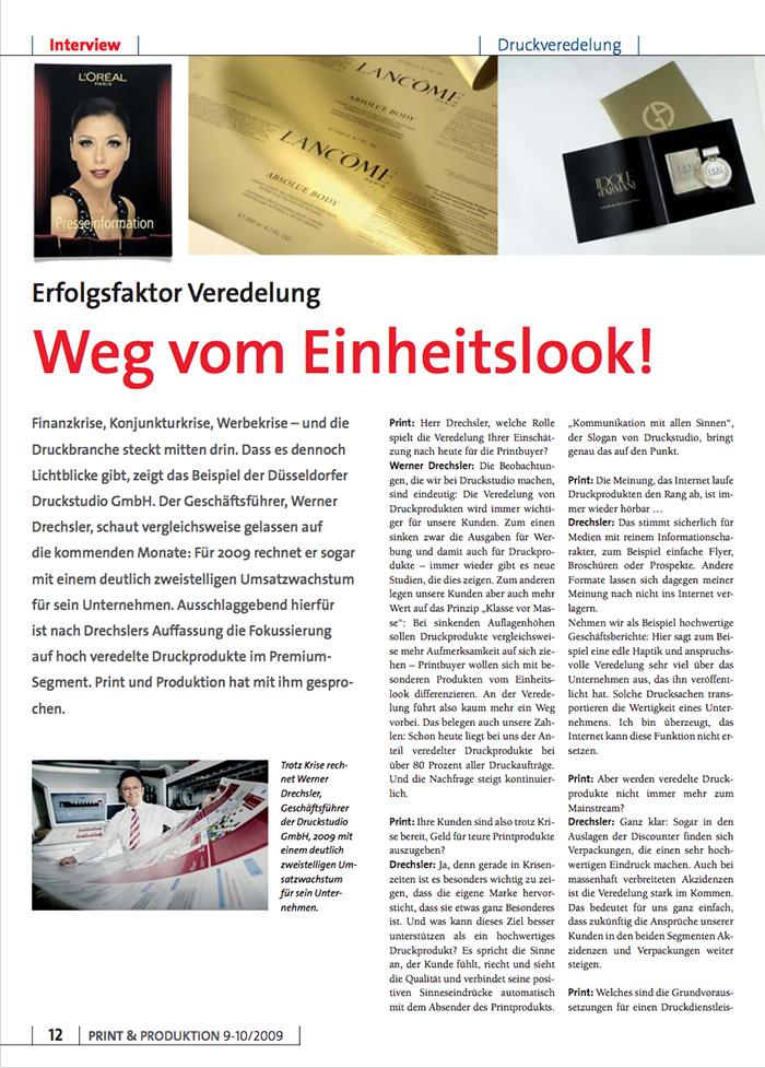 2009 SEPT Print Produktion