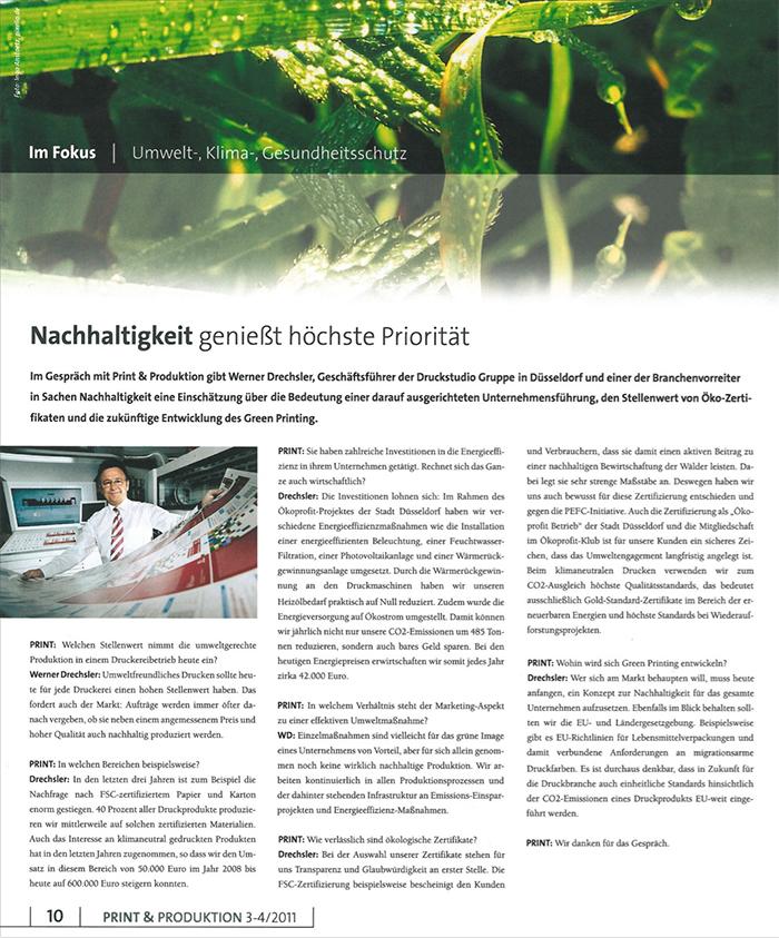 2011 März Print Produktion