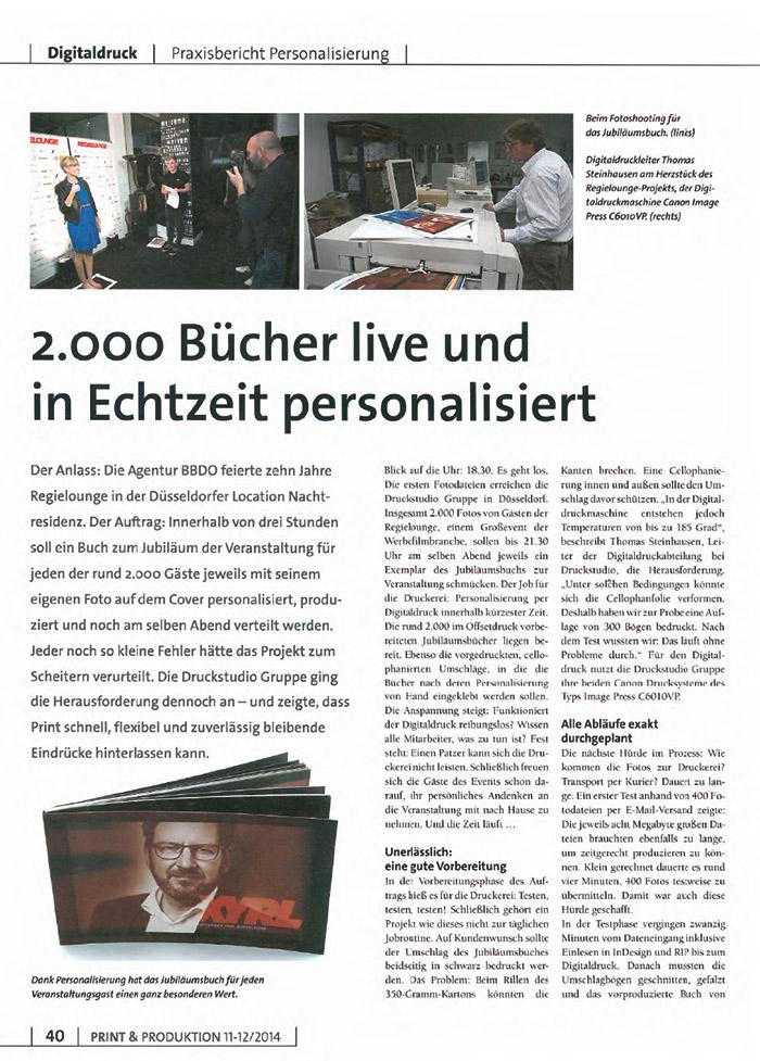 2000 Bücher live in Echtzeit personalisiert