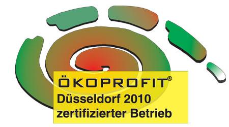 Ökoprofit Düsseldorf 2010 zertifizierte Betrieb
