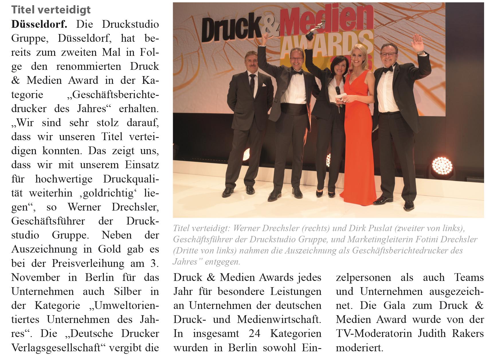 IHK Magazin Druck&Medien Awards 2016 Artikelbild