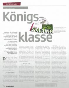 Königsklasse - Individuelle und nachhaltige Drucksachen - dafür steht die Druckstudio Gruppe