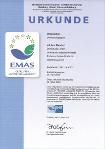 Zertifikat EMAS - Deutsch